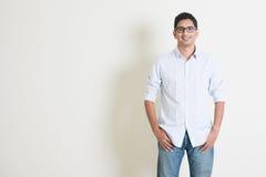 Przypadkowy biznesowy Indiański męski portret Fotografia Royalty Free