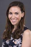 Przypadkowy brunetki headshot Zdjęcie Royalty Free