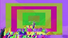 Przypadkowy geometrical tło, komputerowy błąd, korumpujący dane, psychodeliczny tunel royalty ilustracja