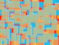 Przypadkowy Kolorowy bloku wzór 1 obraz royalty free