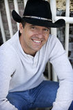 przypadkowy kowbojskiego kapeluszu mężczyzna target2082_0_ Obraz Stock
