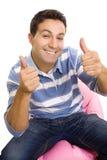 Przypadkowy mężczyzna młodzi przypadkowi tumbs Zdjęcia Stock