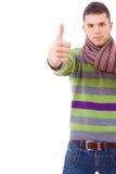 Przypadkowy mężczyzna młodzi przypadkowi tumbs Obraz Stock