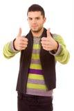Przypadkowy mężczyzna młodzi przypadkowi tumbs Fotografia Royalty Free