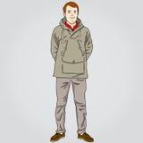 Przypadkowy młody człowiek royalty ilustracja
