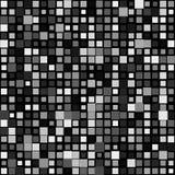 Przypadkowy mozaiki tło z kwadratami zmienia w rozmiarze ilustracja wektor