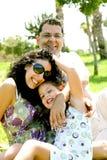 przypadkowy rodzinny portret zdjęcia stock