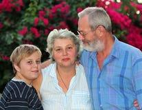 przypadkowy rodzinny portret fotografia stock