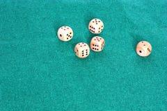 Przypadkowy rzut kostka do gry Zdjęcie Stock