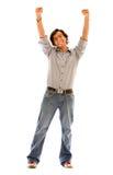 przypadkowy szczęśliwy mężczyzna Fotografia Stock