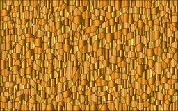 Przypadkowy Złocisty mozaiki tło royalty ilustracja
