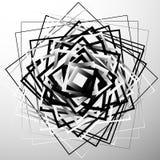 Przypadkowych chaotycznych kwadratów abstrakcjonistyczny geometryczny element Monochromu ge ilustracja wektor