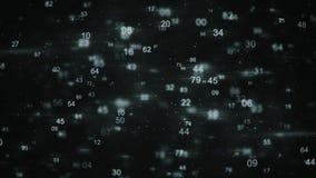Przypadkowych liczb technologii cyfrowej abstrakcjonistyczny rendering Zdjęcia Royalty Free