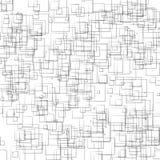 Przypadkowych, rozrzuconych kształtów geometryczna monochromatyczna ilustracja, klepnięcie/ ilustracja wektor
