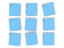 Przypięte papier notatki ilustracji