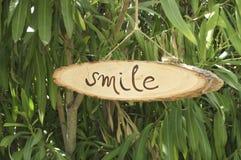 przypomnienia signboard uśmiech Zdjęcia Royalty Free