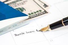 Przypomnienie & x22; banka loan& x22; Zdjęcie Royalty Free