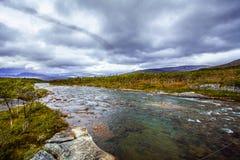 Przyroda (tundra) w północnym Norwegia Fotografia Royalty Free