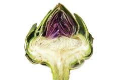 Przyrodni karczoch, pokazywać serce i dławi pod liśćmi, jest Fotografia Stock