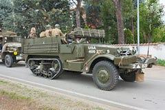 przyrodni militarny stary szlakowy pojazd Obrazy Royalty Free