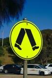 Przyrodni nogi skrzyżowanie Podpisuje wewnątrz Australia zdjęcie royalty free
