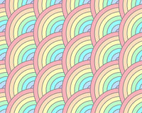 Przyrodni okrąg Wiruje Śmiałej tęczy pastelowego Bezszwowego wzór Obrazy Stock