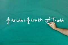 Przyrodnia prawda i połówki prawda no dorównamy prawdy zdjęcie stock