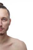 Przyrodnia twarz młody człowiek obrazy royalty free