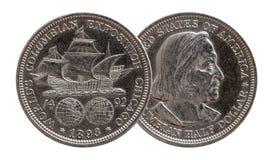Przyrodniego dolara USA Pamiątkowy Menniczy srebro 1893 zdjęcia stock
