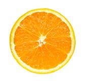 Przyrodniego plasterka świeża pomarańcze odizolowywająca na białym tle fotografia stock