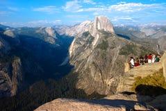 Przyrodniej kopuły Yosemite lodowa Dolinny punkt w Yosemite obywatela normie obrazy royalty free