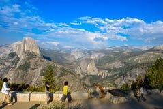 Przyrodniej kopuły Yosemite lodowa Dolinny punkt w Yosemite obywatela normie obraz stock