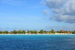 Przyrodniej księżyc Cay, Bahamas Fotografia Royalty Free