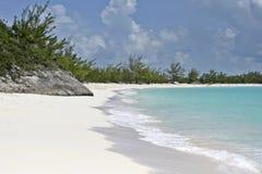 Przyrodniej księżyc Cay plaża Zdjęcie Stock