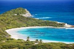 Przyrodniej księżyc zatoka, Antigua Obrazy Royalty Free