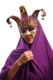przyrodniej maski tajemnicy seksowna kobieta Fotografia Stock