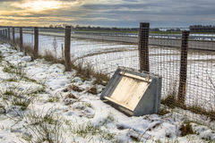 Przyrody ochrony ogrodzenie wzdłuż holenderskiej autostrady Obraz Stock