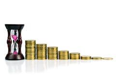 Przyrost pieniężny dobrobyt przez czas Obraz Royalty Free