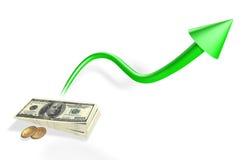 Przyrost pieniądze Zdjęcia Stock