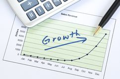 Przyrost w biznesie Fotografia Stock
