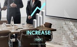 Przyrostowa Wzrostowa wzrost elewacja Powiększa ekspansi pojęcie Fotografia Stock