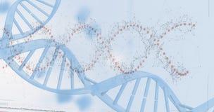 Przyrządu ekran DNA helix wzór