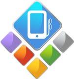 przyrządu ikony medialny przenośnego urządzenia kwadrat Fotografia Stock