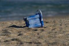 Przyschnięty piaska wiadro Zdjęcie Royalty Free