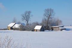 Przysiółek w zima dzień Zdjęcie Royalty Free