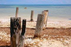 przystań na plaży fotografia stock