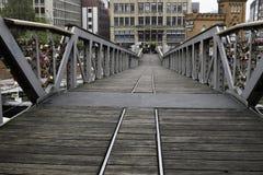 Przystań most W Hamburg Zdjęcie Royalty Free