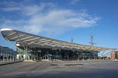 Przystanek Autobusowy Ciężki Portsmouth Obraz Royalty Free