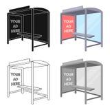 Przystanek autobusowy reklamowa ikona w kreskówka stylu odizolowywającym na białym tle Reklamowa symbolu zapasu wektoru ilustracj Obraz Royalty Free