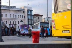 Przystanek Autobusowy w Eminonu Fatih Istanbuł obraz stock